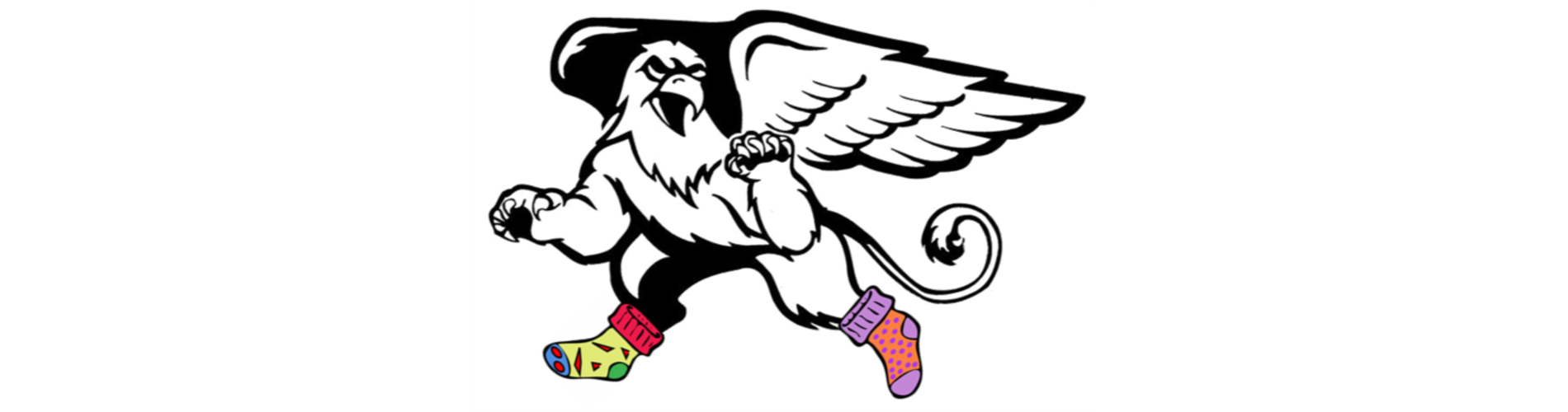 Gryphon with Crazy Socks